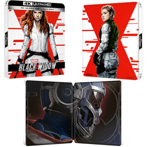 Black Widow Steelbook Blu-Ray 4K visuel produit v2