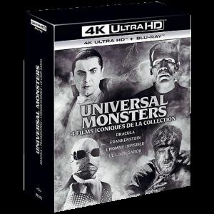 Coffret Universal monsters 4 Films 4K