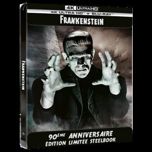 Frankenstein Steelbook Blu Ray 4K visuel produit