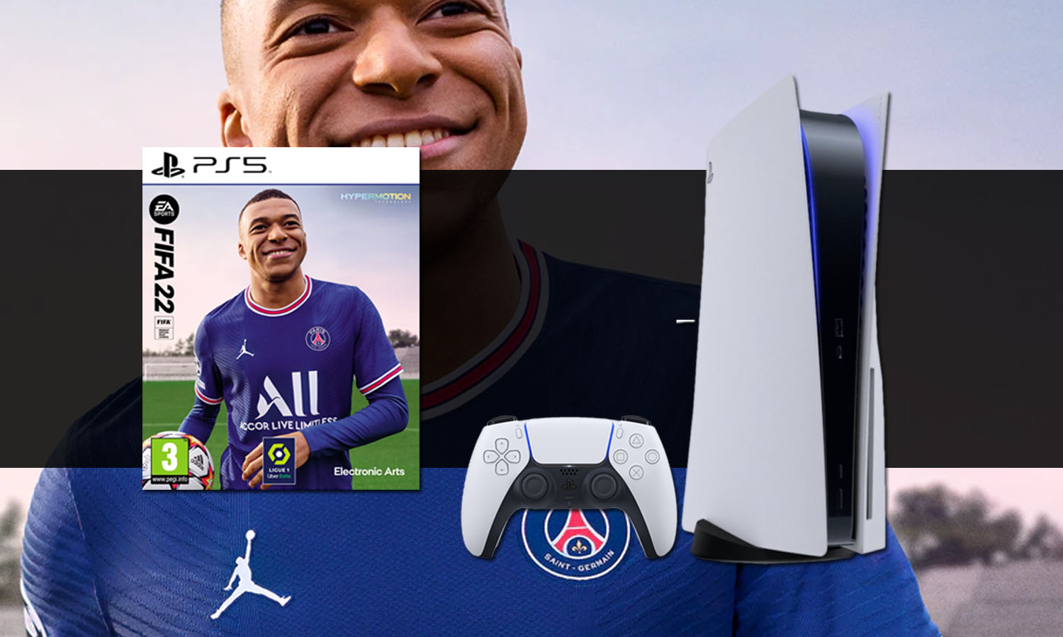 SLIDER pack console ps5 playstation 5 standard fifa 22